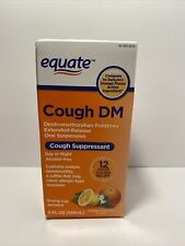 Equate Cough DM Cough Suppressant Orange Extended-Release Syrup exp 05/2022