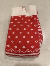NWT Victoria's Secret Fair Isle Cashmere Blend Red Snowflakes Holiday Socks M/L