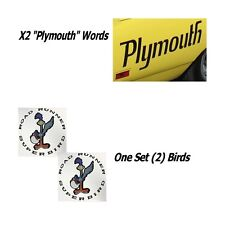 1970 Plymouth Superbird Wing Decals in BLACK Reflective + Quarter Panel Plymouth