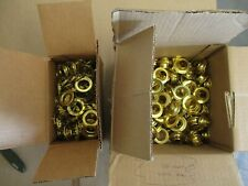 C.S Osborne Brass Grommets /& Spur Washers #G2-4 144 Sets Size 4