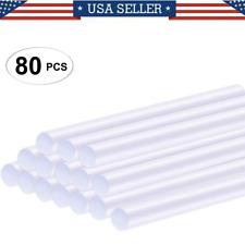 "80 Hot Melt Mini Glue Gun Stick 0.27 x 4"" Clear White Wholesale Lot"