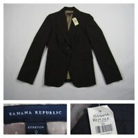 Banana Republic Womens Size O Brown Stretch Wool Blazer Jacket Career Lined NWT