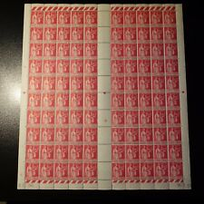 FEUILLE SHEET TIMBRE TYPE PAIX N°370 x100 1939 NEUF ** LUXE MNH COTE 430€