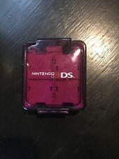 Nintendo 3DS Purple Hard Case 16 Game Cartidge Holder Carrier Box