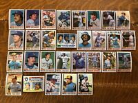 1982 MILWAUKEE BREWERS Topps COMPLETE MLB Team SET 29 Cards YOUNT FINGERS COOPER