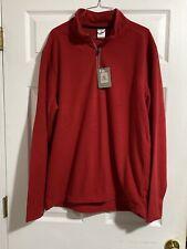 Colorado Clothing RED XL Men's Rockvale Fleece Pull Over 1/4 Zip 6196 NWT!!