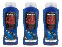 3 x Simoniz 500ml Protection Car Wash Shampoo safe streak free 500ml JOB LOT