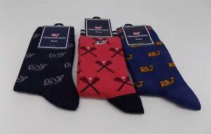 Vineyard Vines  Whale Socks for Boys One Size - SET / LOT 3 PAIRS SOCKS A-11
