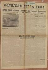 CORRIERE DELLA SERA 5 MARZO 1941 BULGARIA NADO NADI CARDIFF NEWCASTLE SIRIA