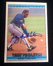 TERRY PENDLETON 1992 DONRUSS Autographed Signed AUTO Baseball Card 237 BRAVES