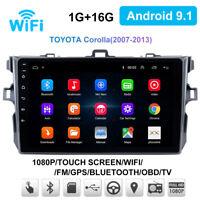 For Toyota Corolla 2007-2013 Stereo Radio Player GPS Navigation 9'' Android 9.1