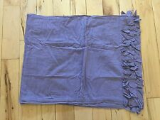 ANTHROPOLOGIE GEORGINA COLLECTION STANDARD PILLOW SHAM Case Purple Cotton Rufflw