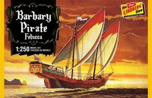 Lindberg Barbary Pirate Felucca Ship 1:250 Scale Model Kit #HL205/12 New in Box