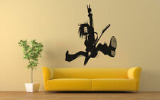 Wall Vinyl Sticker Decals Mural Room Design Mural Art Rock Guitar Player bo262