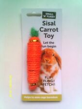 SMALL 'N' FURRY SISAL CARROT TOY - FULL OF BEANS - NEW
