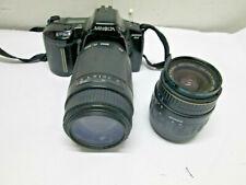 Minolta Maxxum 3xi 35mm SLR Film Camera w/2 Lens 28-80mm Sigma DL 75-300mm