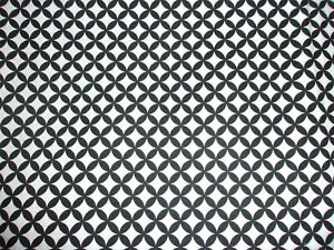 CLEARANCE 6 YARDS Black & White Illusion Circle Geometric Quilting Cotton Fabric