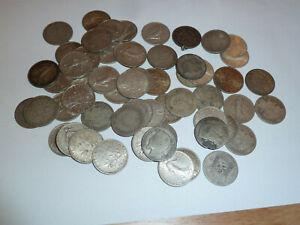 lot 58 pieces argent silver 1 franc
