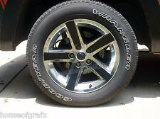 "20"" Factory Sport Wheel Rim Decal Decals Inlays fit 2010 Dodge Ram 1500 Crew cab"
