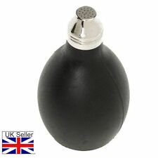 Powder Air or Talc Blower For Removing Hair After Hair Cuts Black Soft Rubber