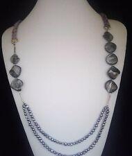Collar y pendientes de perlas de manglar, madreperla y plata