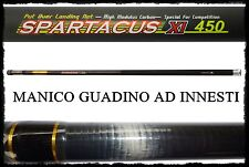 manico spartacus 4,50m innesti per guadino carbonio pesca roubasienne bolognese