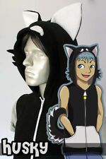Black Husky Hoodie Vest, New, Kigurumi, Cosplay, Costume