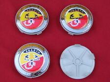 4 Coprimozzo fregi ruote wheel center caps Abarth diametro esterno da 68mm