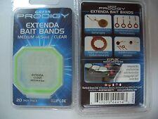 Greys Prodigy Extenda Bait Bands, Pelletgummis, Medium (4,5mm), clear, 20 Stück