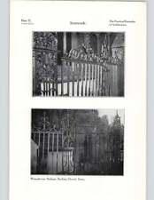 1924 FERRO BATTUTO ringhiere bocking dettagli Chiesa