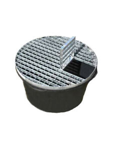 Water Feature Pebble Pool - Reinforced Heavy Duty 90L 660mm diameter With Grid