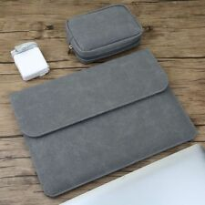 Laptop Sleeve Bag Matte Magnetic Buckle PU Power Pack For Macbook Pro Air Cover