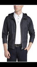 NWT $395 HUGO BOSS Orange Label Onero Sporty Hooded Jacket Size 38R  Drkblue