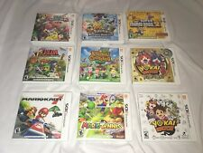Nintendo 3DS Game Case Lot Mario Kart 7 Yo Kai Watch Zelda Animal Crossing Etc.
