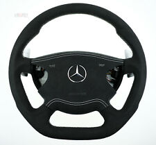 Mercedes custom steering wheel E55 AMG W211 paddle shift flat bottom thick 02-06