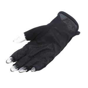 Thin Men Sun Gloves Accessories Outdoor Simple Sunscreen Fashion Half Finger CZ