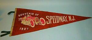 AUTO RACING PENNANT SPEEDWAY. NJ 1927