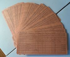 50 New Old stock IBM Data Punch Cards Unused Salmon Buffalo Liquor 1960s