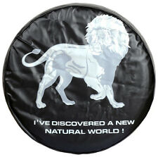 """14"""" Spare Wheel Tire Cover with Lion Image For All SUV Car"""