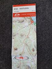 LARGE OLD MATLOCK TOPOGRAPHIC MAP CHART BOOK LET VICTORIA GOVT ISSUE  NATMAP