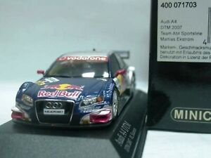 WOW EXTREMELY RARE Audi A4 RWD #3 Ekstrom Champion DTM 2007 1:43 Minichamps-RS4