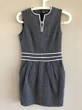 Vintage Style | Black & White Work Dress | Sz S
