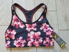 NWT Old Navy Active Go-Dry racerback sports bra size XS extra small - gray/pink