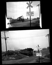 BR&W Black River & Western Railroad Crossing RINGOES FLEMINGTON NJ Photo Negs 2
