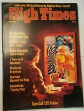 HIGH TIMES SPECIAL LSD ISSUE VINTAGE JAN 1977 MARIJUANA MAGAZINE WEED 420 N/M