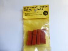 PACK OF 4 SCOTT MATHAUSER BRAKE BLOCK RUBBERS SUITABLE FOR CAMPAGNOLO ETC NOS