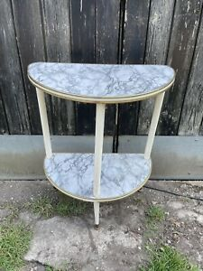 Vintage Half Moon Hallway Console Table telephone table dansette legs