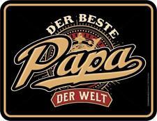 Tin Sign 6 11/16x8 11/16In, Best Papa the World, Advertising Frameless art. 3823