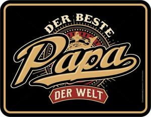 Plaque 17 X 22 CM, Meilleur Papa Du Monde, Werbeschild Rahmenlos Art. 3823