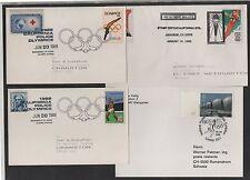 JEUX OLYMPIQUES - OLYMPICS / LOT DE 10 LETTRES / 3 IMAGES (ref 7314)